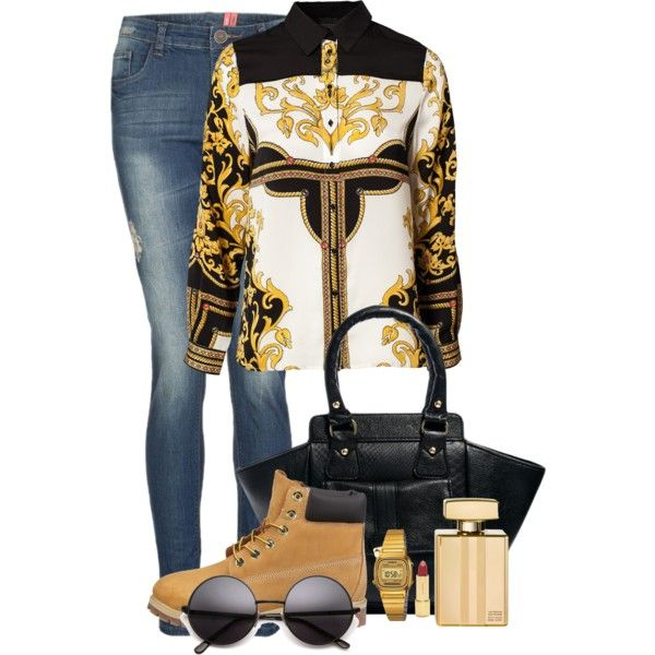 """Gold Erry'thangg"" by karyserjaneosiohx on Polyvore"