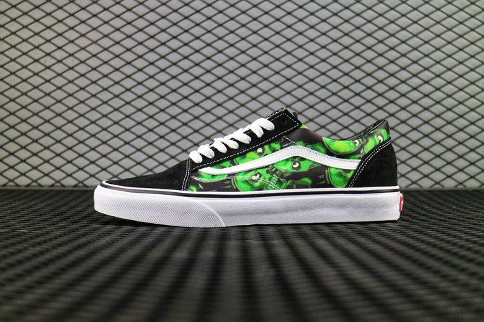 c7d3a31f6500 Retailmenot Coupon Supreme x Vans Old Skool Slip On Pro Skull Pile Black  White Skate Shoe Vans For  Vans