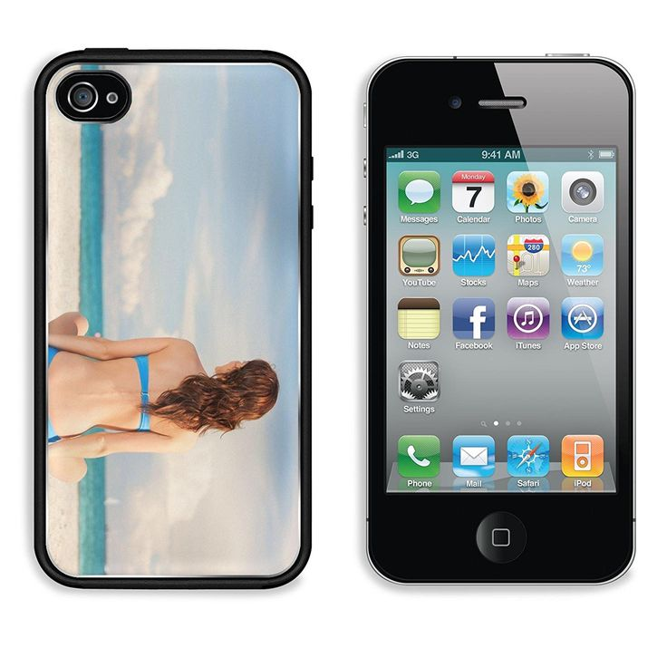 Liili Premium Apple iPhone 4 iPhone 4S Aluminum Backplate Bumper Snap Case picture of woman practicing yoga lotus pose on the beach Photo 14730373 -- Read more reviews of the product by visiting the link on the image.