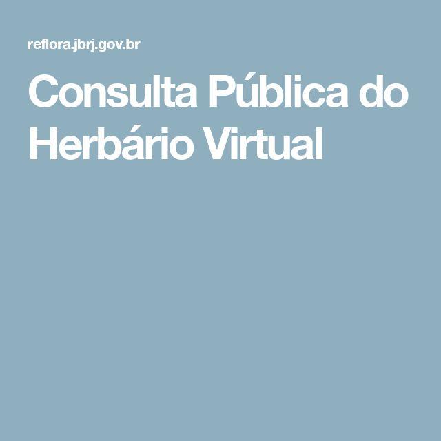 Consulta Pública do Herbário Virtual