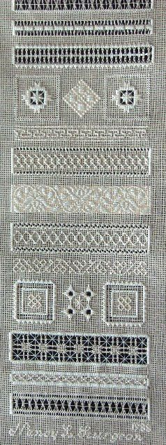 Threads Through Time: 1711 MSI SAMPLER; PULLED THREAD/WHITEWORK SAMPLER