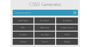 CSS3 generators