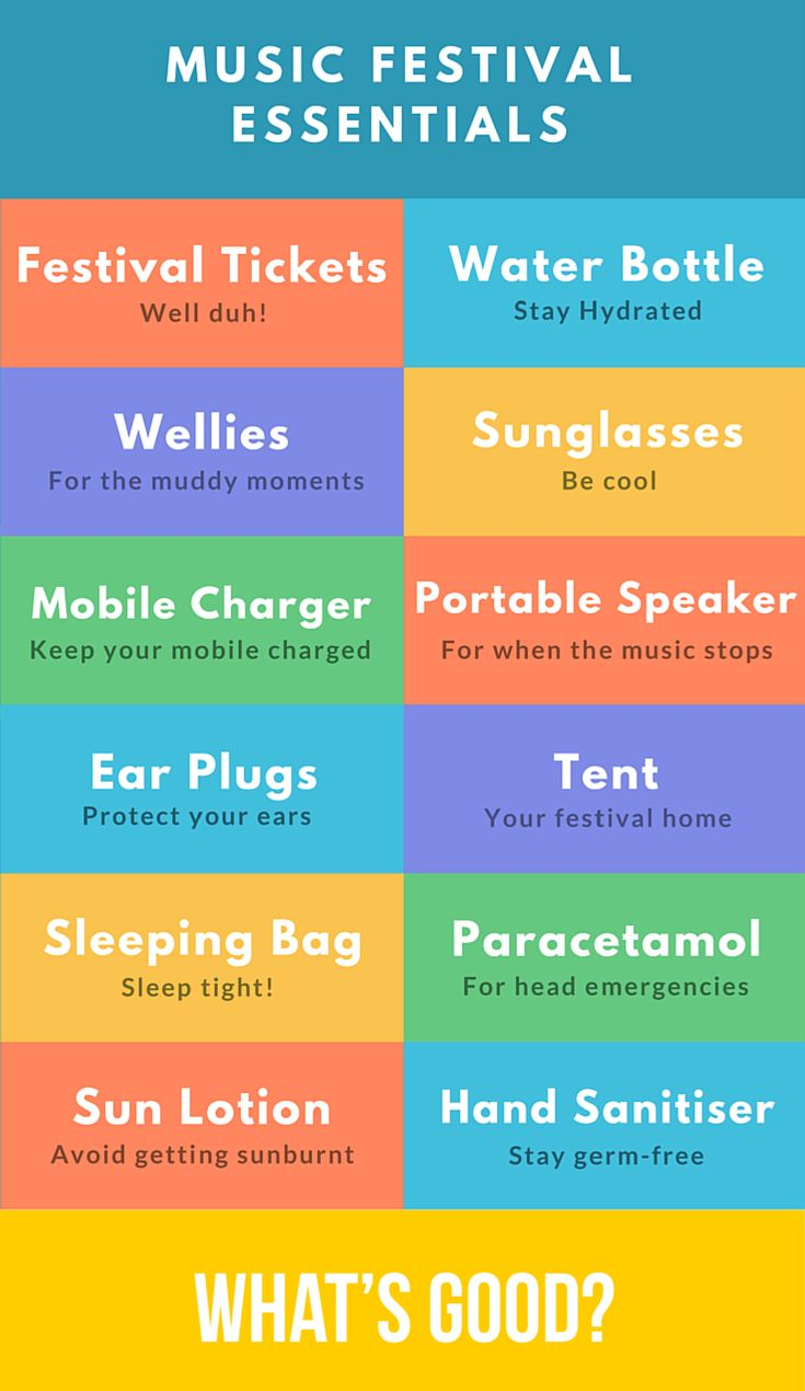 Going to a festival this summer? Need help packing? Read our music festival essentials checklist.