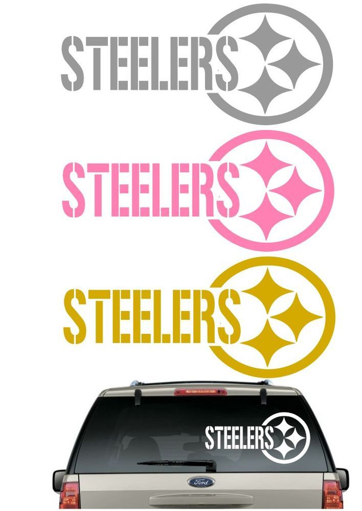 Steelers car decal various sizes color window sticker helmet flag pittsburghsteelers