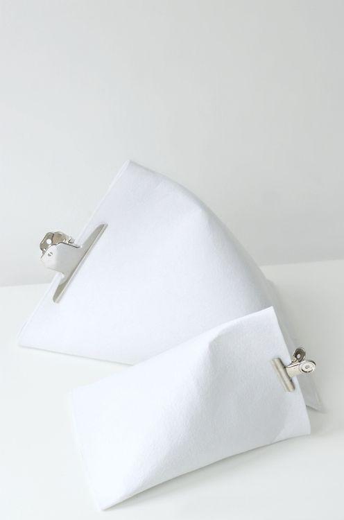 DIY pyramid storage bags