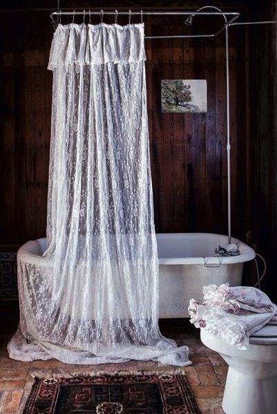lace over-sized shower curtain.  I'm in love