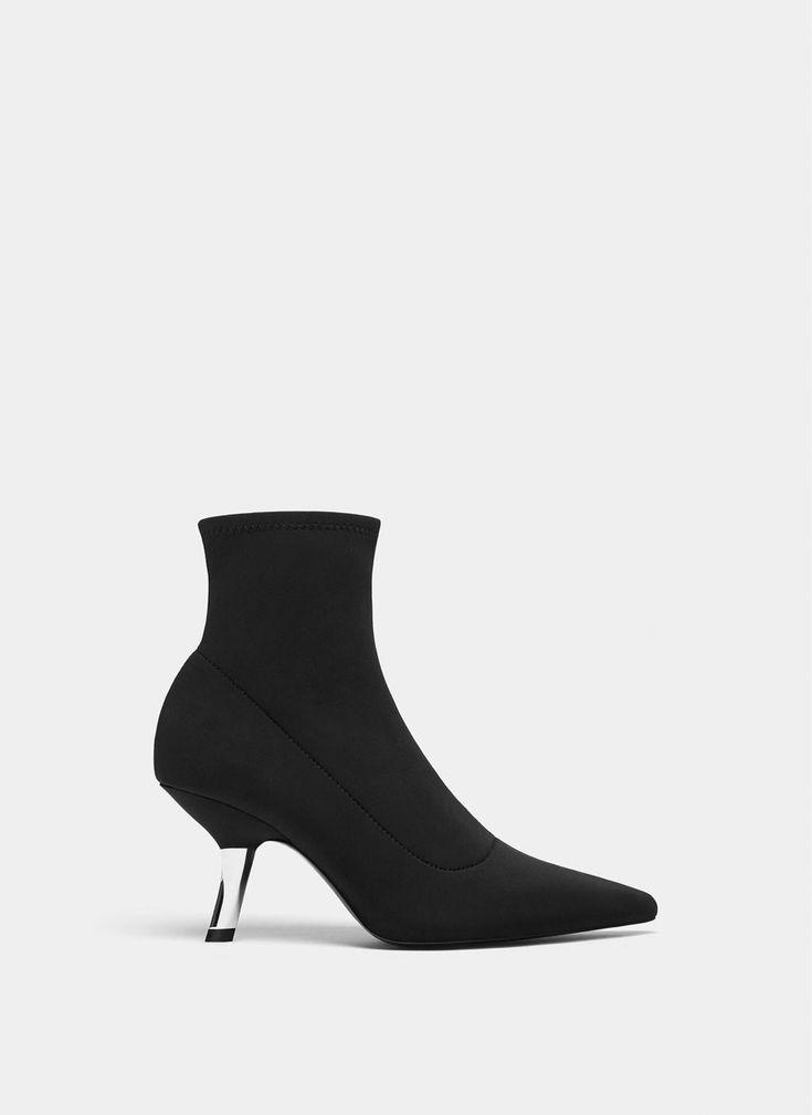 Botín negro elástico - Ver todo - Calzado - Uterqüe España