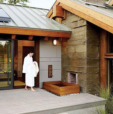 Back Deck And Hot Tub Ideas Tropical Patio Backyard
