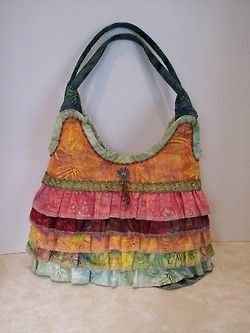 Handmade Batik Fabric Purse. Ooo I would love to have this