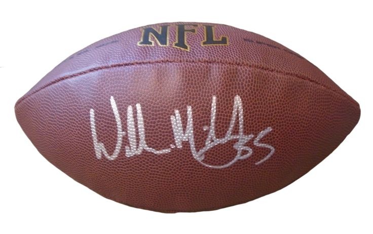 USC Trojans Willie McGinest signed NFL Wilson full size football w/ proof photo.  Proof photo of Willie signing will be included with your purchase along with a COA issued from Southwestconnection-Memorabilia, guaranteeing the item to pass authentication services from PSA/DNA or JSA. Free USPS shipping. www.AutographedwithProof.com is your one stop for autographed collectibles from USC & NCAA sports teams. Check back with us often, as we are always obtaining new items.
