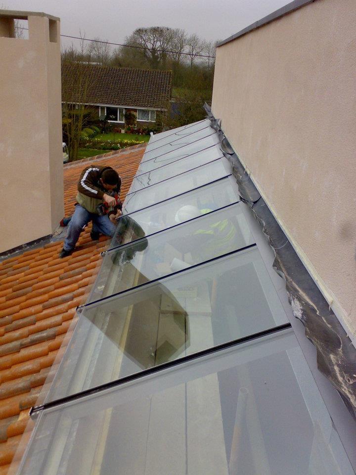 Rooflight in progress