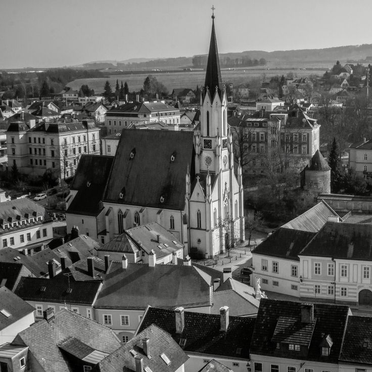 Beautiful Cityscape, focused on Cathedral in Black and White Photography. Photo by Adhi Rachdian, March 2016