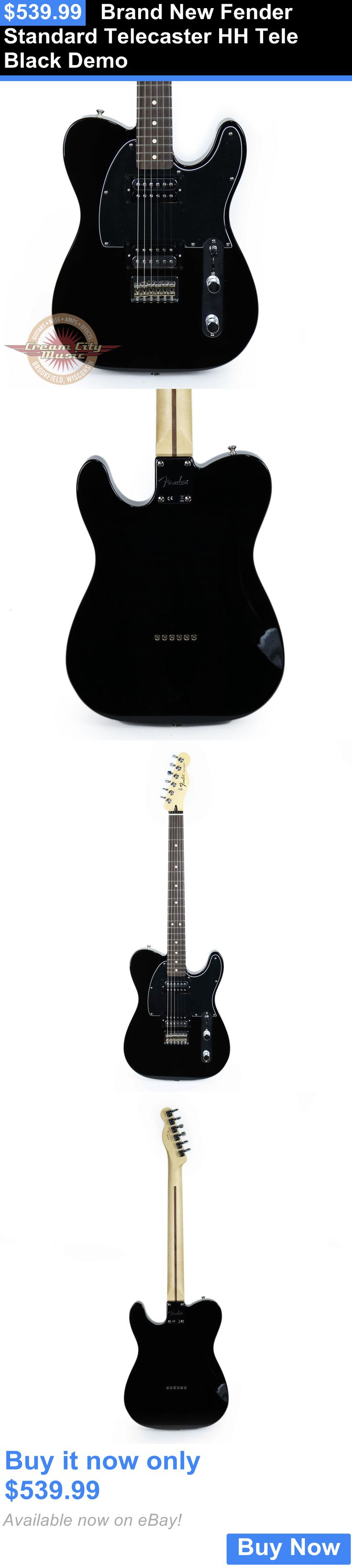 musical instruments: Brand New Fender Standard Telecaster Hh Tele Black Demo BUY IT NOW ONLY: $539.99