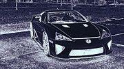 """New artwork for sale! - """" Lexus Lfa White Super Car by PixBreak Art """" - http://ift.tt/2nsLOTA"""