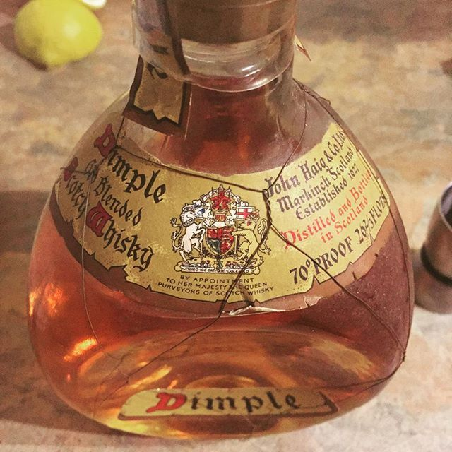 A bottle of 50 year old whiskey has just been opened #booze #whiskey #dimple…