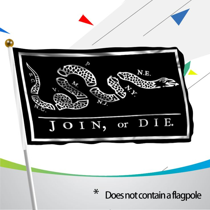 MOFAN 3x5 Foot Black Join or Die Flag - Canvas Header and Double Stitched - Colonies of the Revolutionary War Banner Flags
