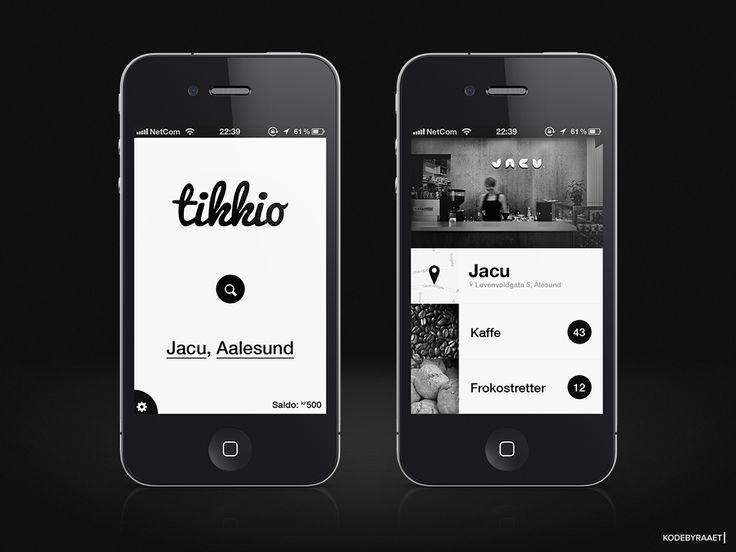 Black & White App design