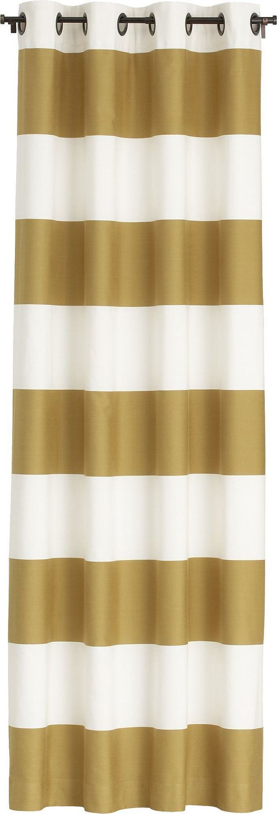 The  Best Horizontal Striped Curtains Ideas On Pinterest - Brown and white striped shower curtain