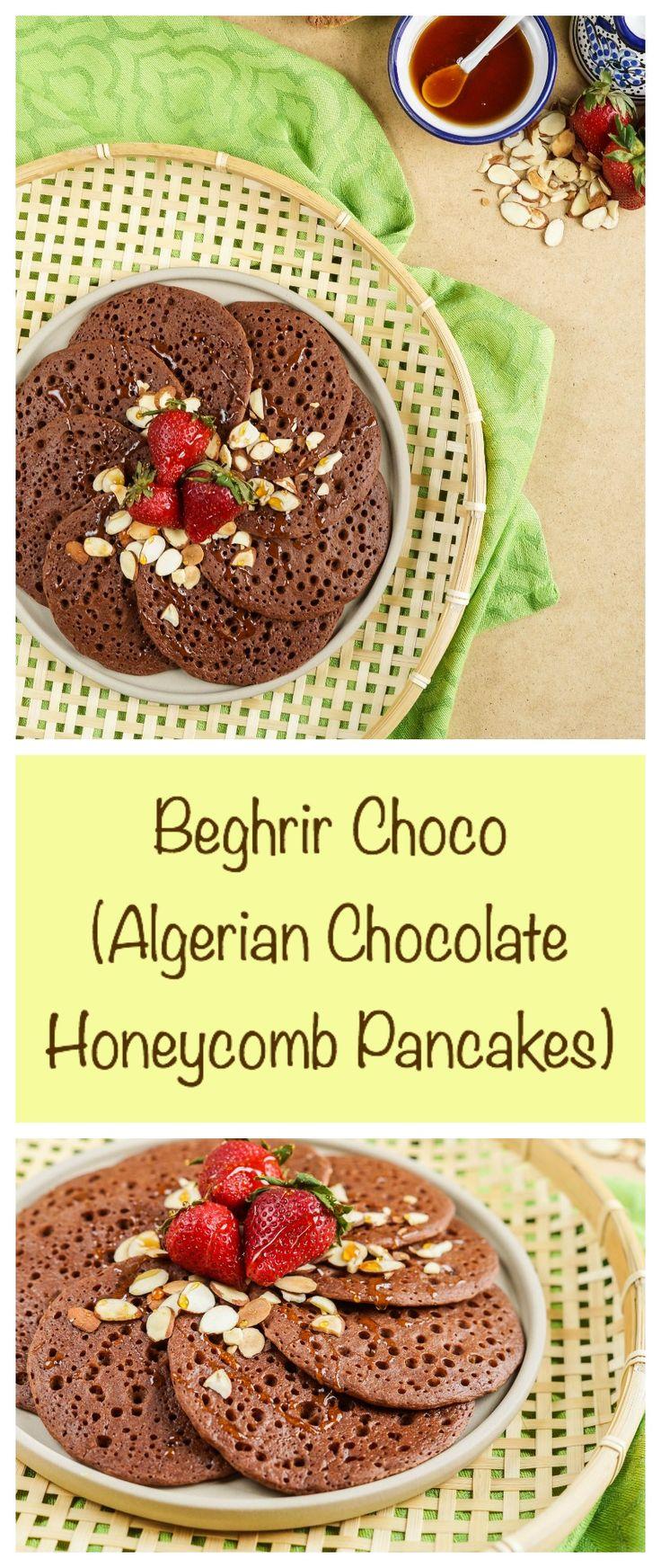 Beghrir Choco (Algerian Chocolate Honeycomb Pancakes)