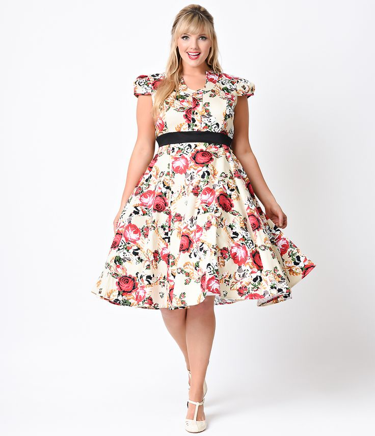 1950s retro dresses plus size