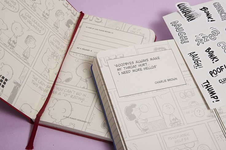 Peanuts Planners Collection 2016 - Inside covers