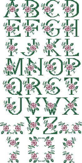 Alfabeto con rosa