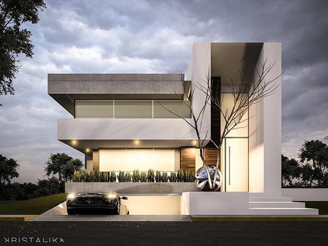 House Architects m&m house #architecture #modern #facade #contemporary #house