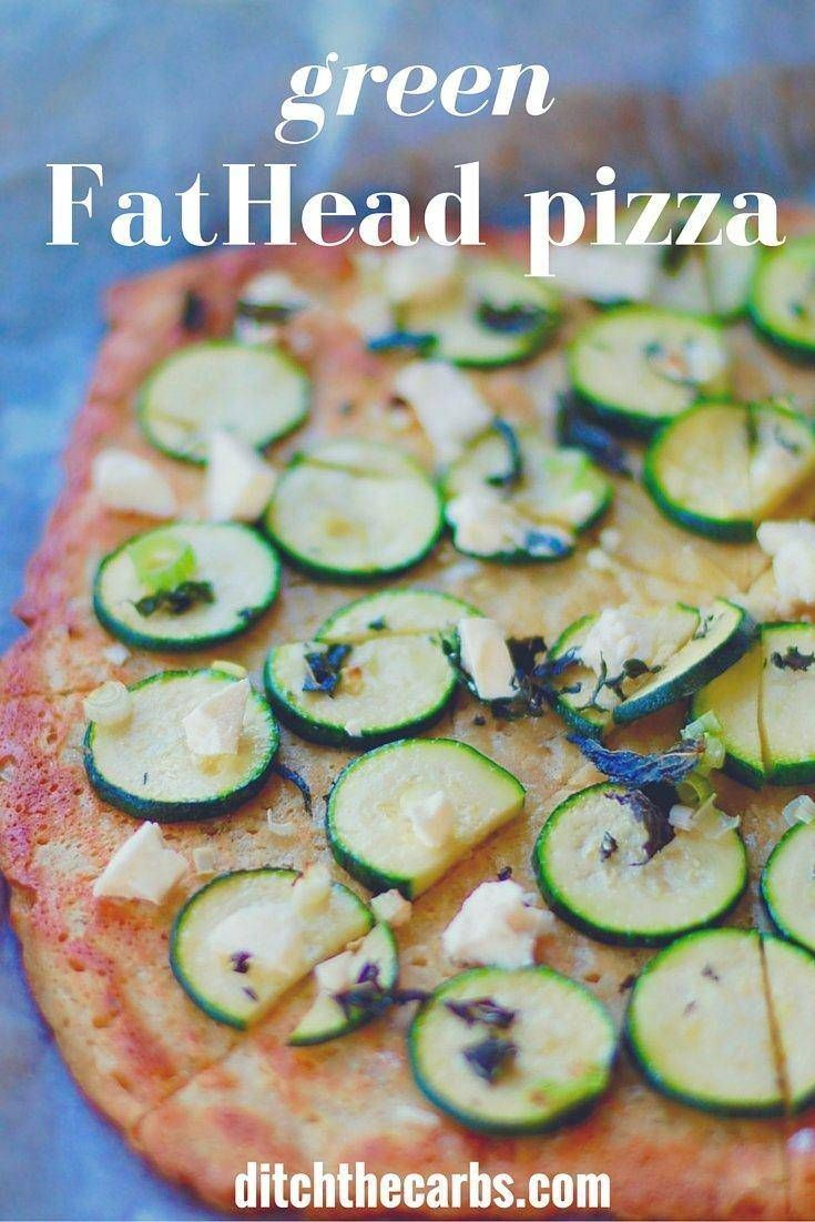 FatHead pizza just got better - green FatHead pizza is incredible, fresh and healthy. Keep the recipe and try it out this weekend. Low carb greatness.