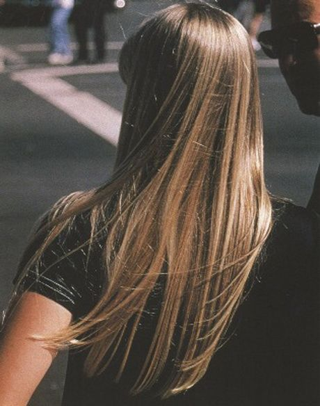 Riflessi biondi su capelli castani