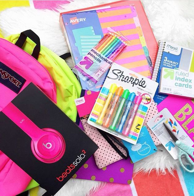 All my supplies for 2015-16 school year