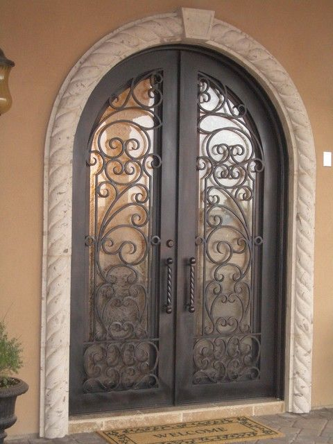 Doors and windows wrought iron entry doors hometalk for Exterior doors and windows