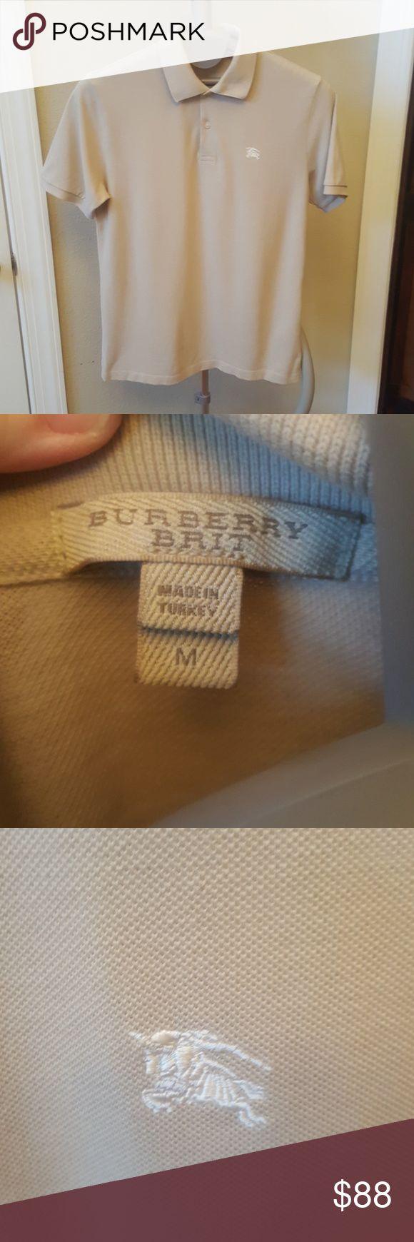 Burberry men's tan shirt Sz Medium Burberry men's tan shirt size Medium, great condition Burberry Shirts Polos