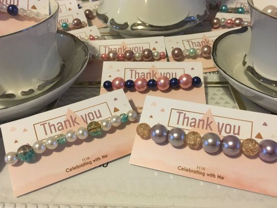 lot of 10 tea party bridal shower favors pearl bracelets