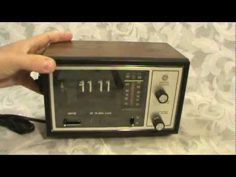 Vintage Ge Flip Clock Radio 7 4225c Electronics Pinterest