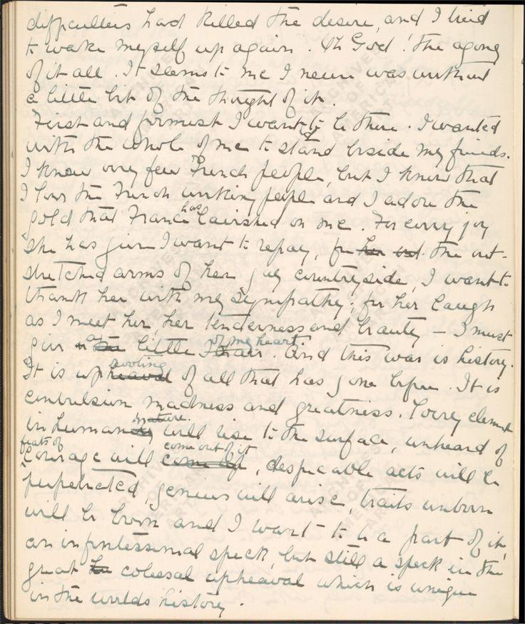 Journal  Juilly Hospital 1914