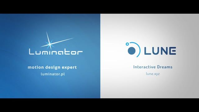 works by :  LUNE - interactive dreams  http://www.lune.xyz/ LUMINATOR - motion design expert http://www.luminator.pl/  contact: 600 26 71 59
