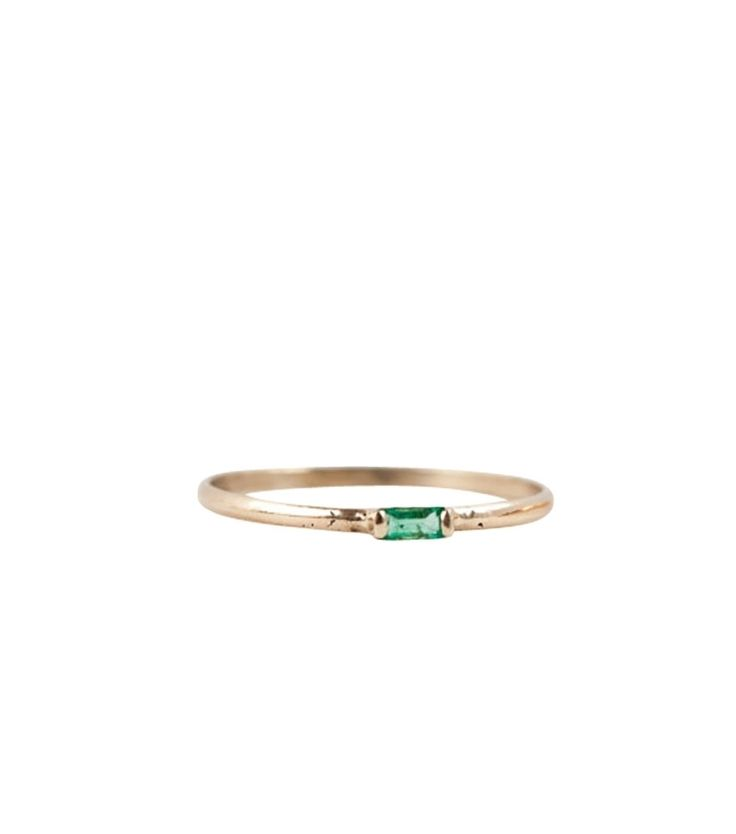Catbird::shop by category::JEWELRY::Baguette Ring, Emerald