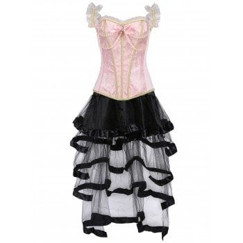 SHARE & Get it FREE | Renaissance Flounce Vintage Steel Boned Corset TwinsetFor Fashion Lovers only:80,000  Items·FREE SHIPPING Join Dresslily: Get YOUR $50 NOW!