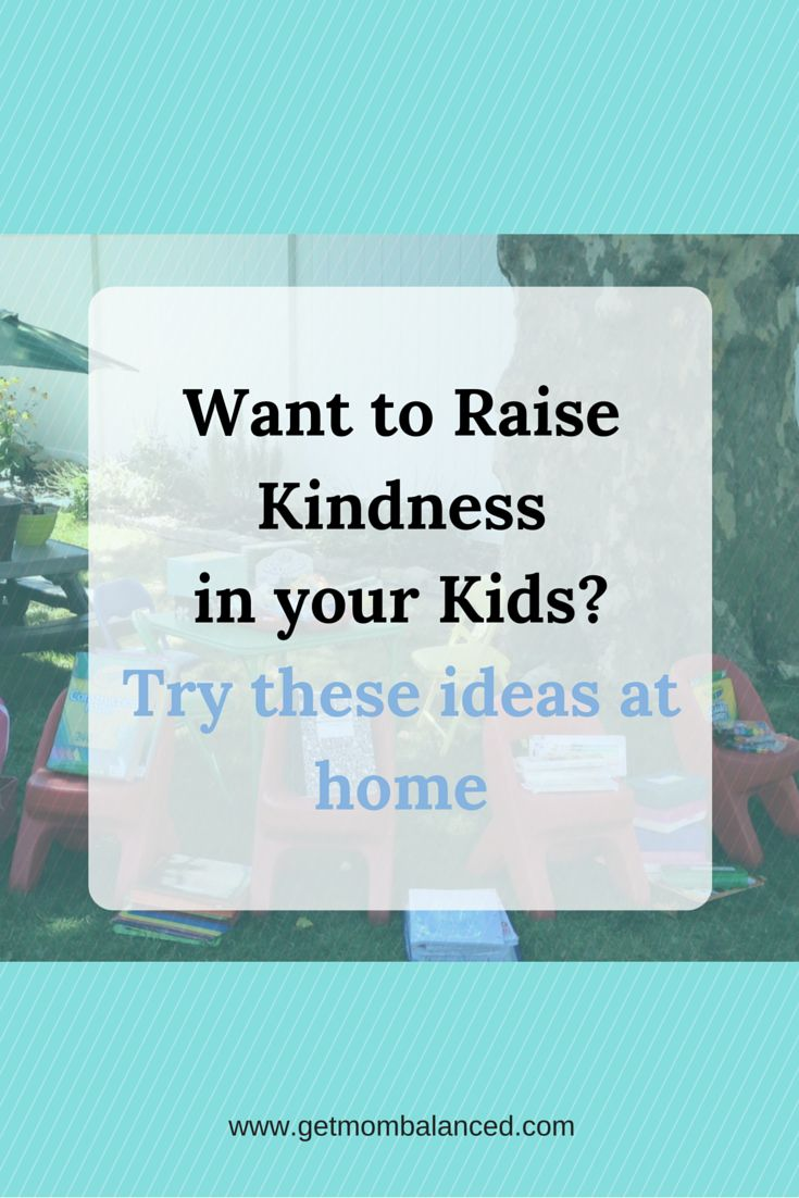 Kindness can be taught at home. Read for ideas about how to teach kindness or pin for later.