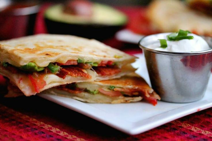 Bacon,avocado,quesadillas | Yum! Yum! Yum! | Pinterest