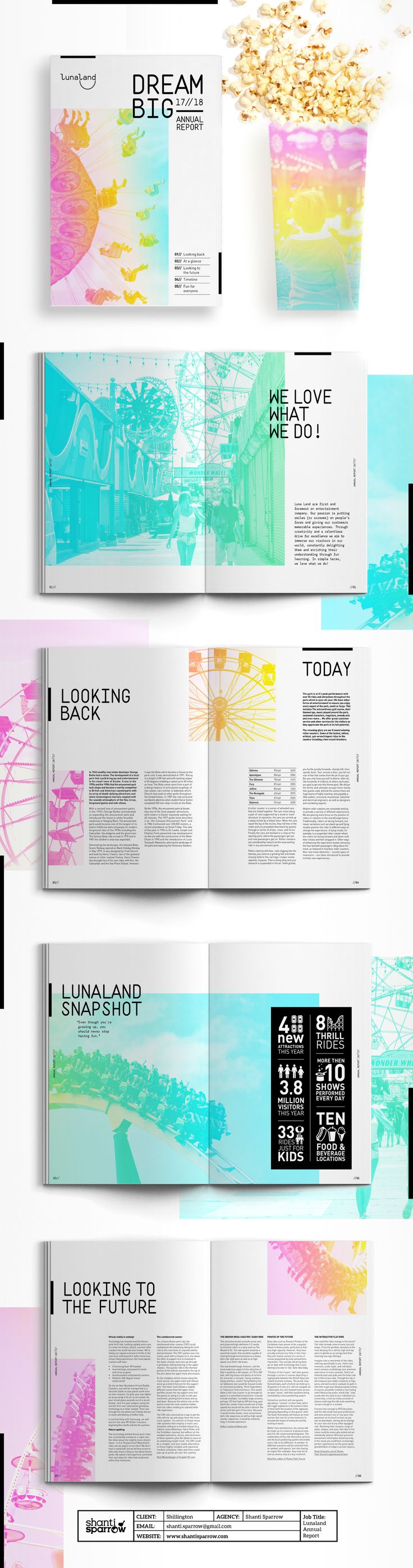 """Check out this @Behance project: """"Lunaland Annual Report"""" https://www.behance.net/gallery/47758333/Lunaland-Annual-Report"""