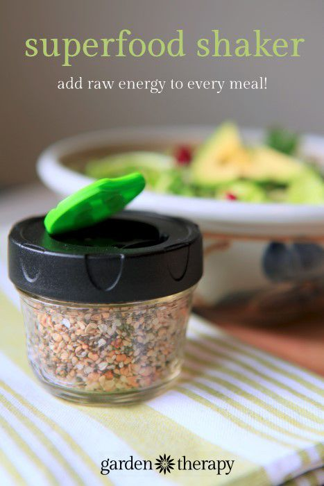 This mix of raw chia, hemp, buckwheat, and sesame seeds is such a convenient way to shake some healthiness right onto your meals. Add it to salads, soups, stews, curries, sandwiches, cereal, yogurt, desserts and smoothies. You won't believe how good it tastes! Each ingredient is added so that you will get healthy benefits and stay full longer.