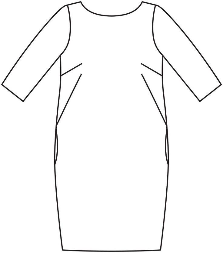 Платье с глубоким декольте - выкройка № 109 В из журнала 12/2015 Burda – выкройки платьев на Burdastyle.ru