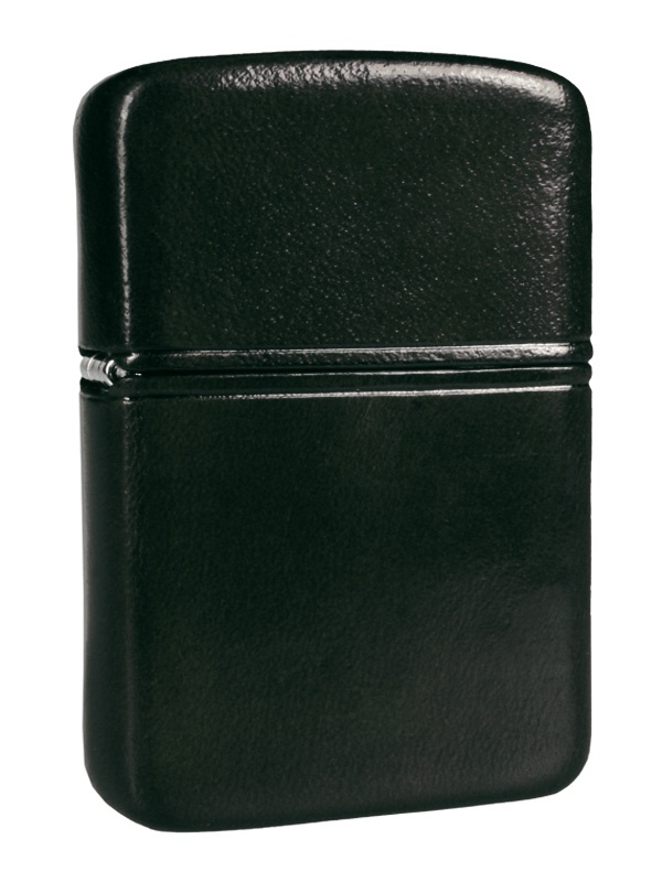 Zippo lighter in Black leather sheath available from Zippo Italy!