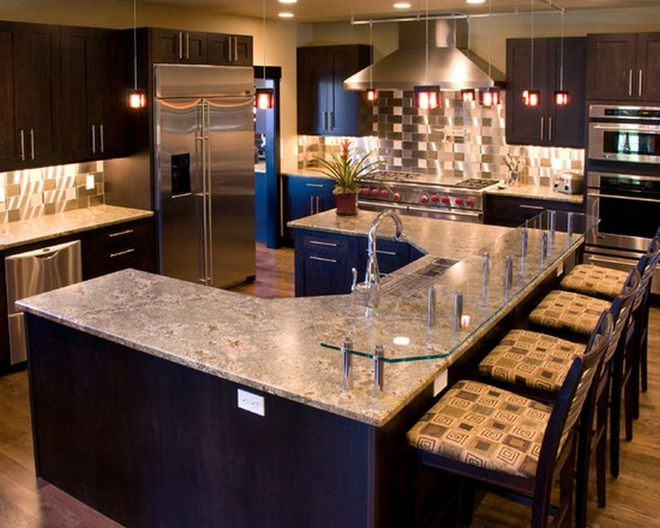Best 25 modern kitchen island designs ideas on pinterest for Modern luxury kitchen designs