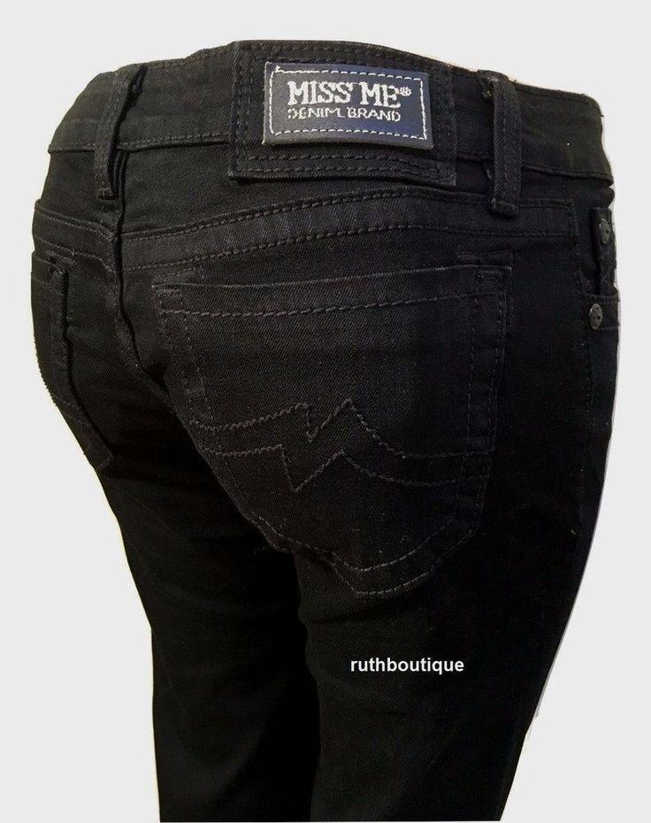 Miss Me Size 28 Black Destroyed Skinny Jeans JPD1003SK-4 NWT MSRP $99.50 #MissMe #SlimSkinny