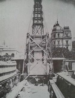 Traslado de la Pirámide de Mayo 1912