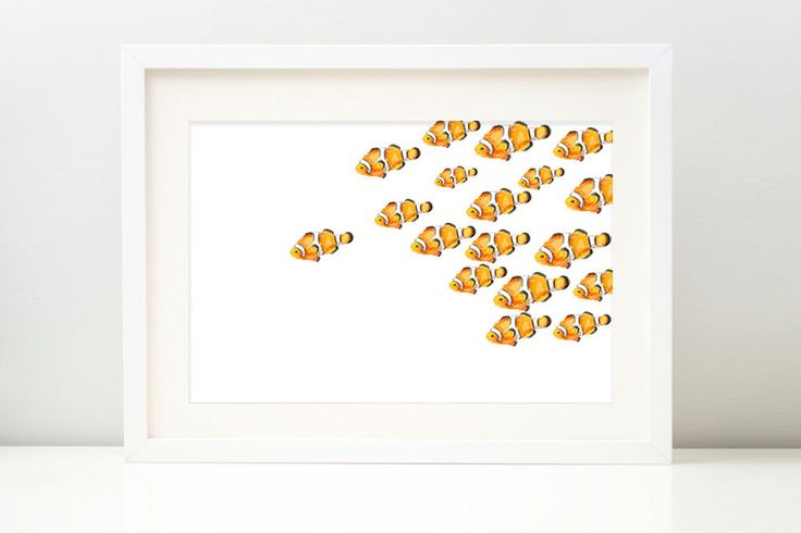 Watercolor Fish Print. Fish Wall Art. Nemo Fish. by TripleStudio, $7.00