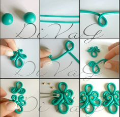 Picture tute  concept - what else can we do? #Polymer #Clay #Tutorials beautiful! like soutache but better!