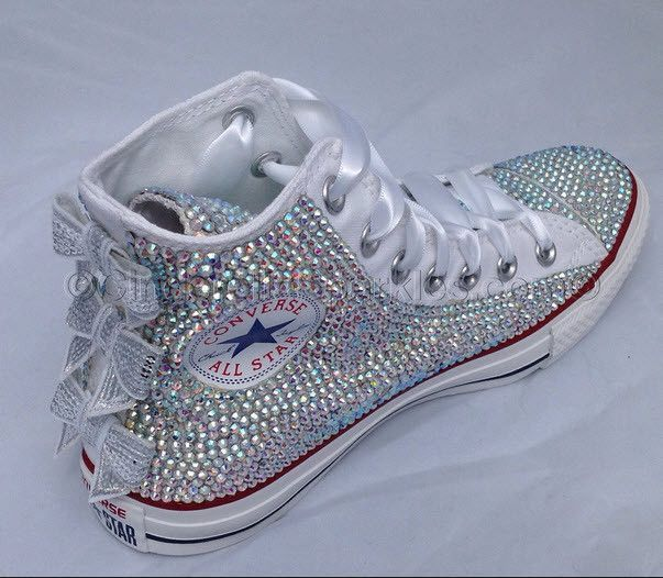 **All Converse Shoes are authentic or money back. * This designs comes with a sequin bows (you can request the color- we have two designs in the picture one bow is pink and the other is silver. But yo